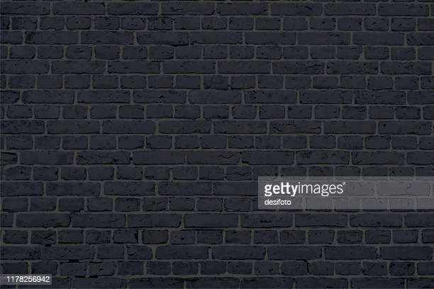 illustrations, cliparts, dessins animés et icônes de illustration moderne de vecteur de motif de panneau de brique de couleur noire - couleur noire