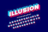 Modern bold 3d font