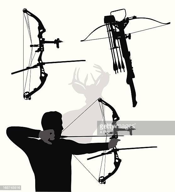 Modern Bows Vector Silhouette