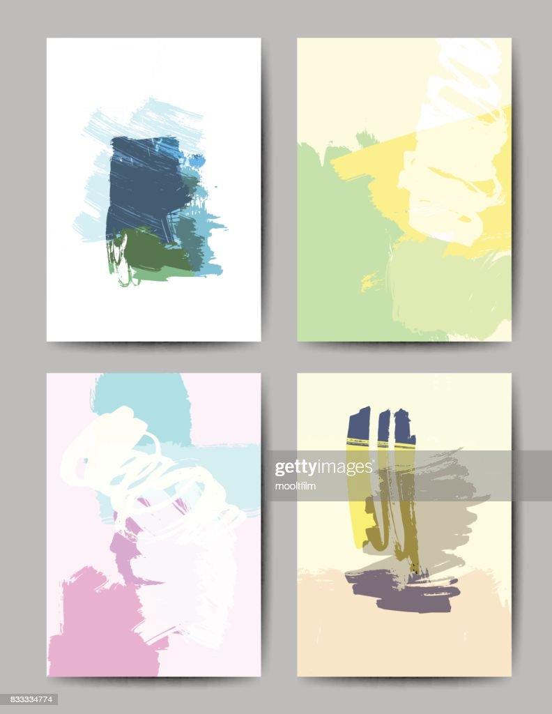 Moderne Pinsel Vektor Postkarte Vorlage Vektorgrafik | Getty Images