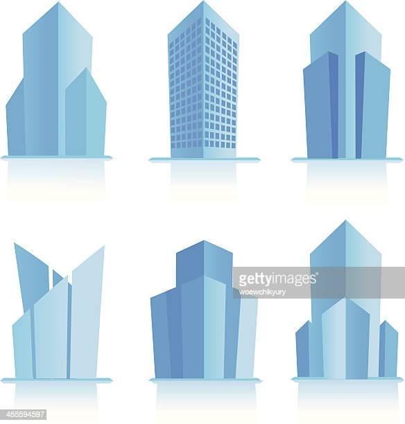 modern building - tower stock illustrations
