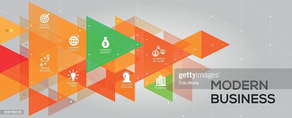 modern business banner and icons ベクトルアート getty images