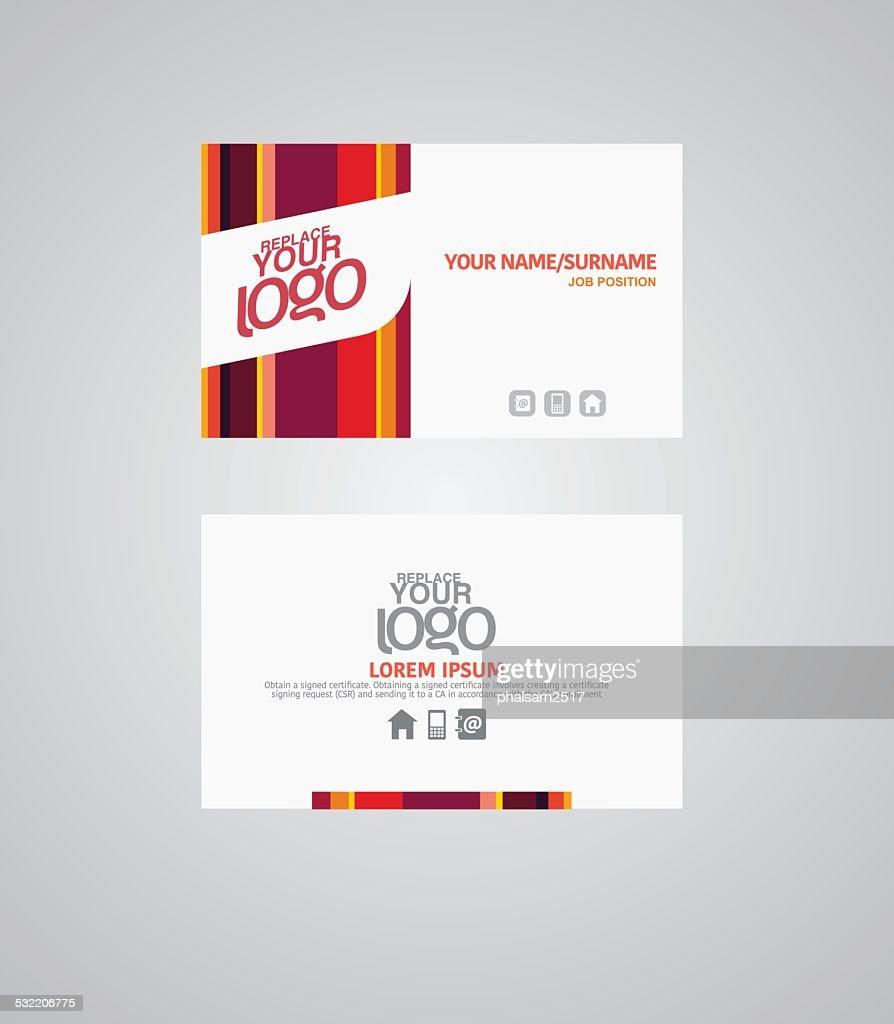 Modern business card template. vector