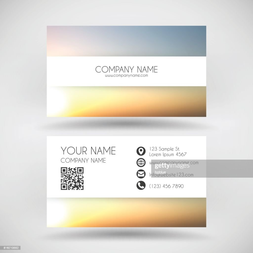 Modern Business Card Template With Abstract Background Blurred ...