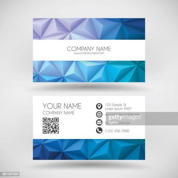 Moderne Visitenkarte Vorlage mit abstrakten geometrischen Hintergrund