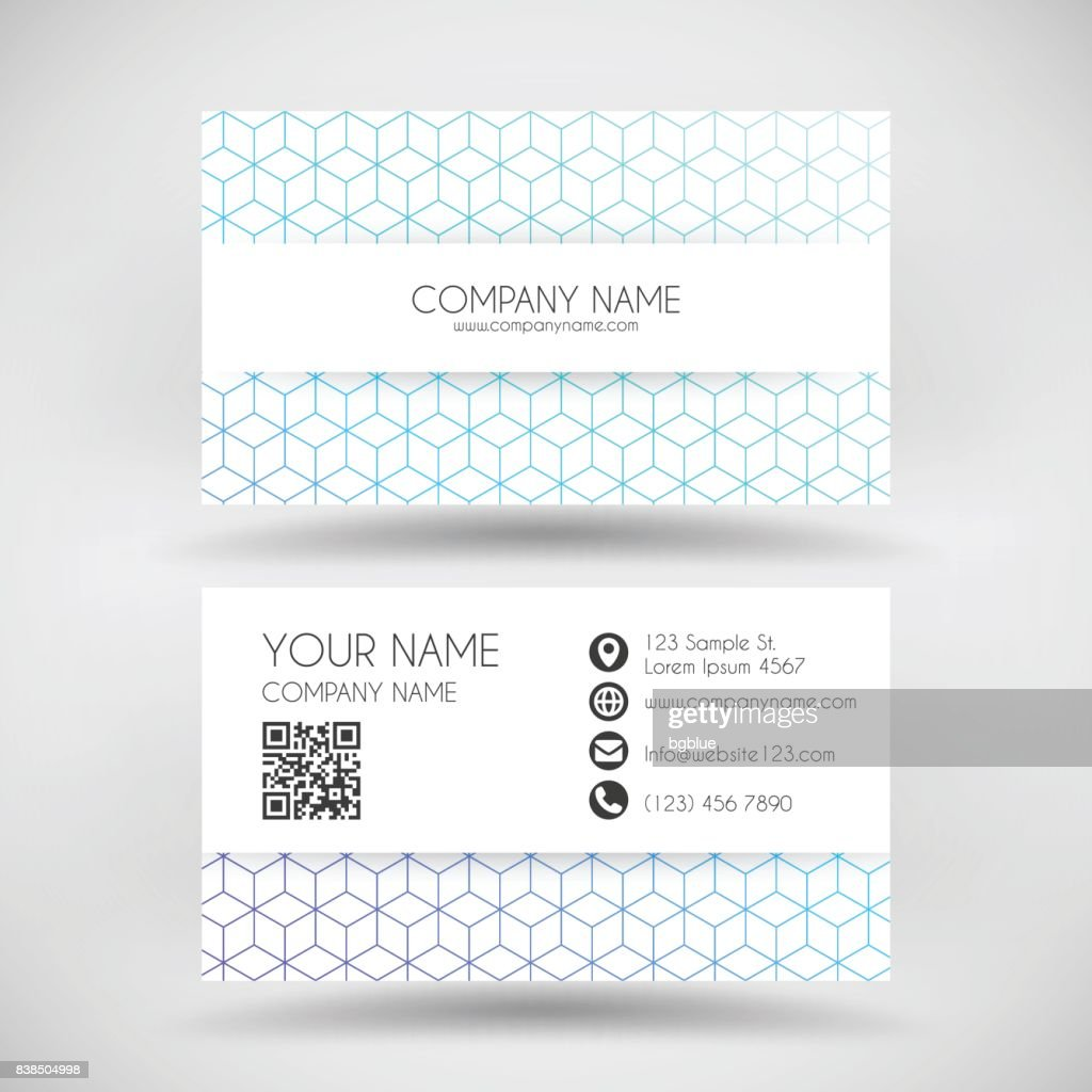 Modern Business Card Template With Abstract Geometric Background ...