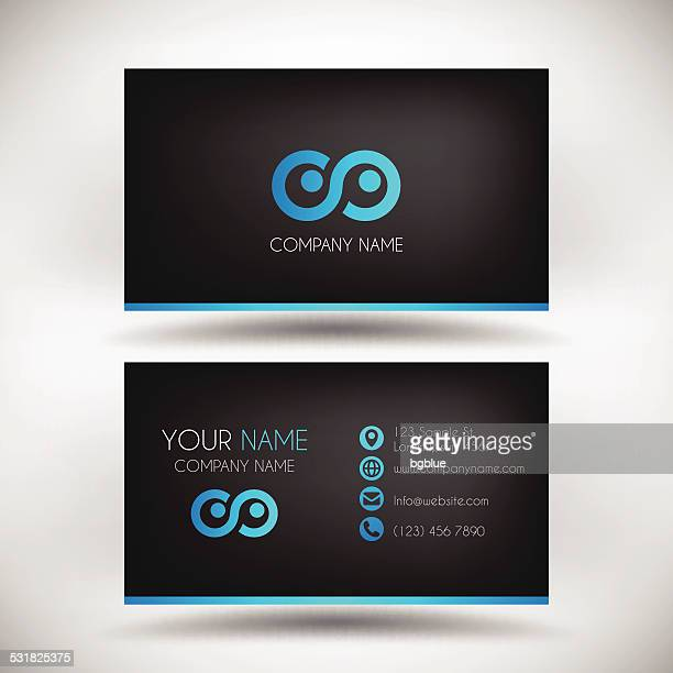 Modern Business Card Template with black Background