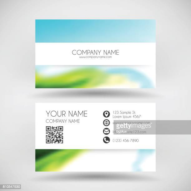 modern business card template with colored abstract background - id card template stock illustrations