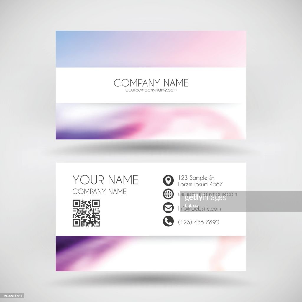 Modern Business Card Template With Colorful Abstract Background ...