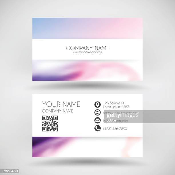 modern business card template with colorful abstract background - id card template stock illustrations