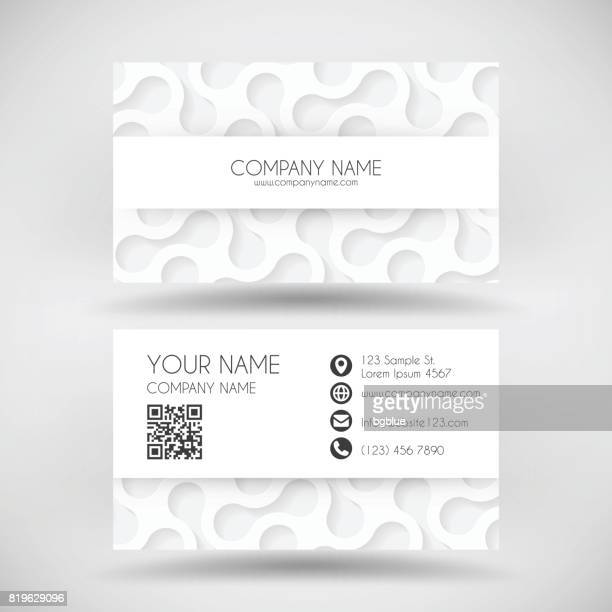 modern business card template with white abstract background - id card template stock illustrations