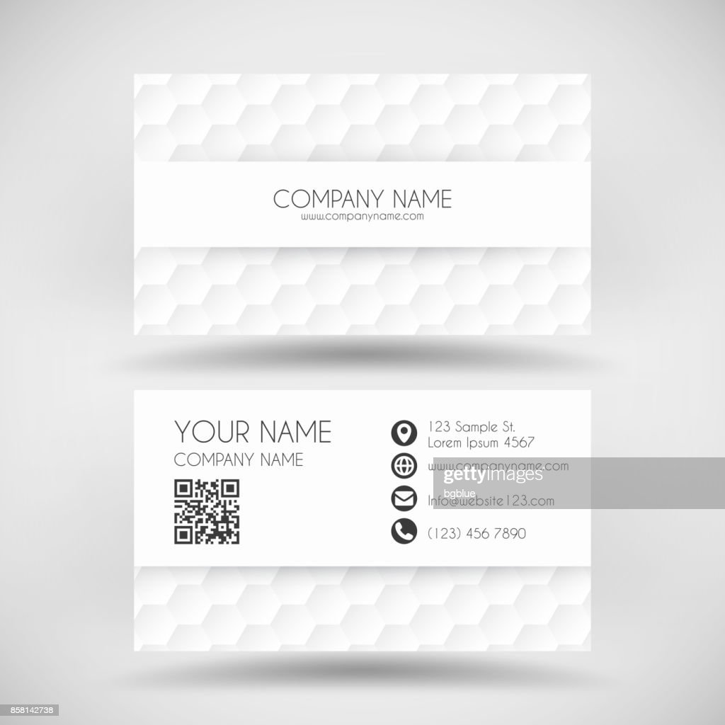 Modern business card template with white abstract background