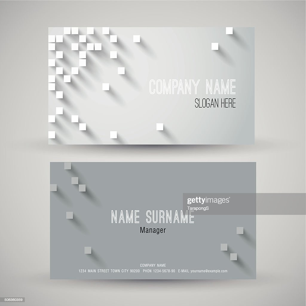 Modern business card.