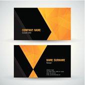 Modern business card.