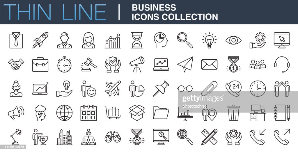Modern Business Icons Collection : Stock Illustration