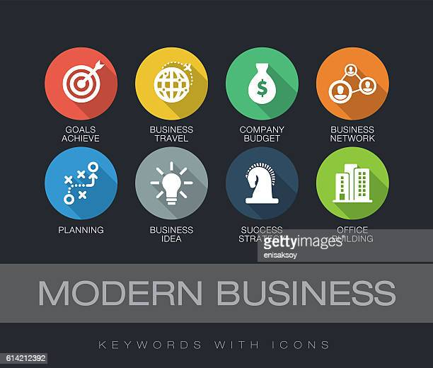 Modern Business keywords with icons