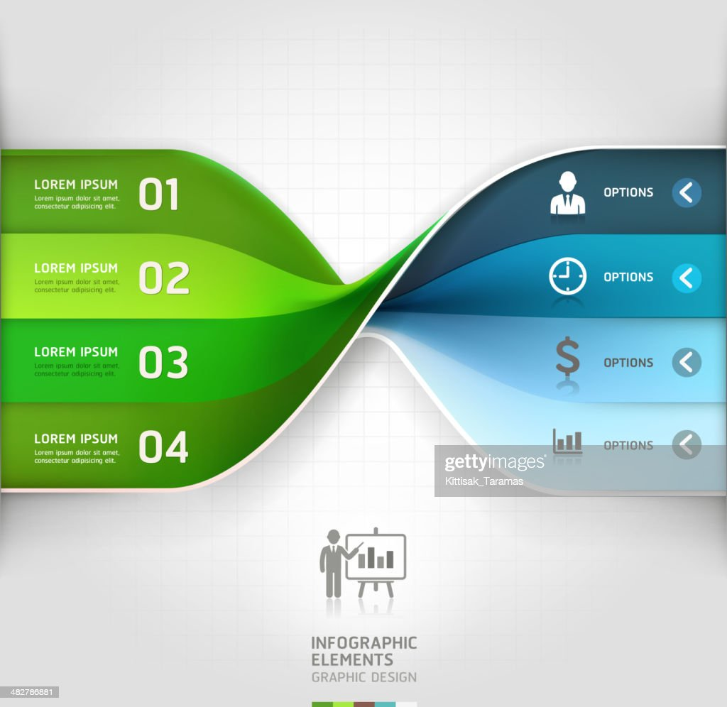 Modern business spiral infographics options banner.