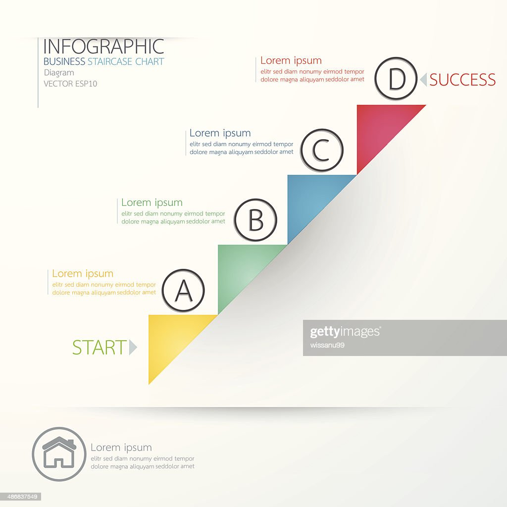 Modern business staircase chart diagram s. Vector ill
