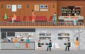 Modern Cafe shop Interior.