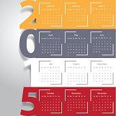 Modern calendar 2015.Vector/illustr ation .
