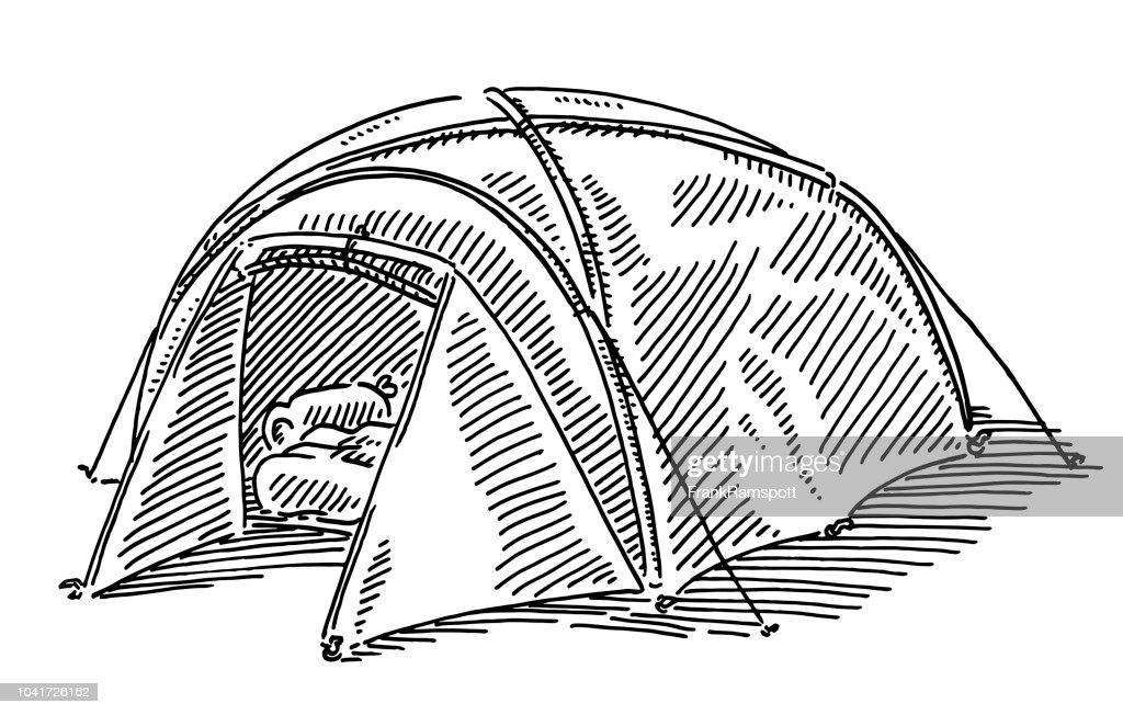 Modern Camping Tent Drawing : stock illustration
