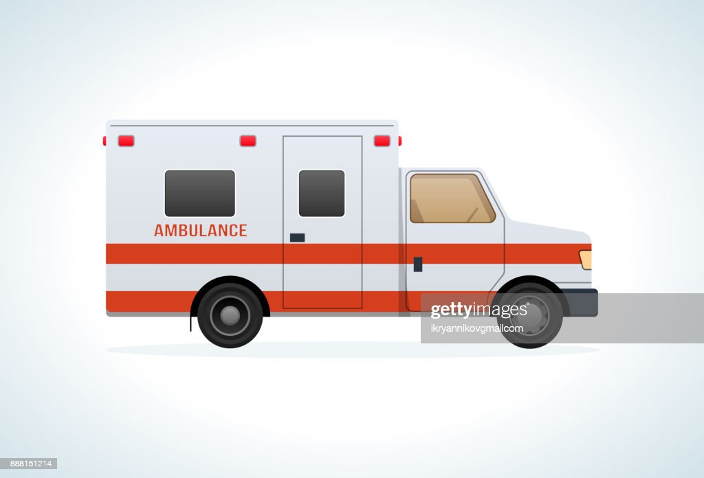 Modern car of medical ambulance service. Emergency vehicle