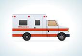 Modern car of medical ambulance service. Emergency vehicle
