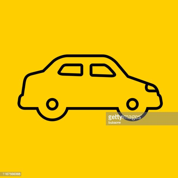 modern car side view icon - hatchback stock illustrations, clip art, cartoons, & icons