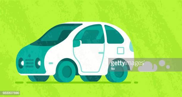 modern car - hatchback stock illustrations, clip art, cartoons, & icons