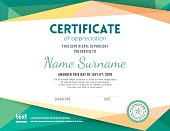 Modern certificate background design template