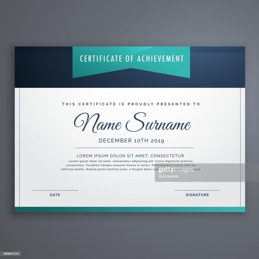 modern certificate of achievment