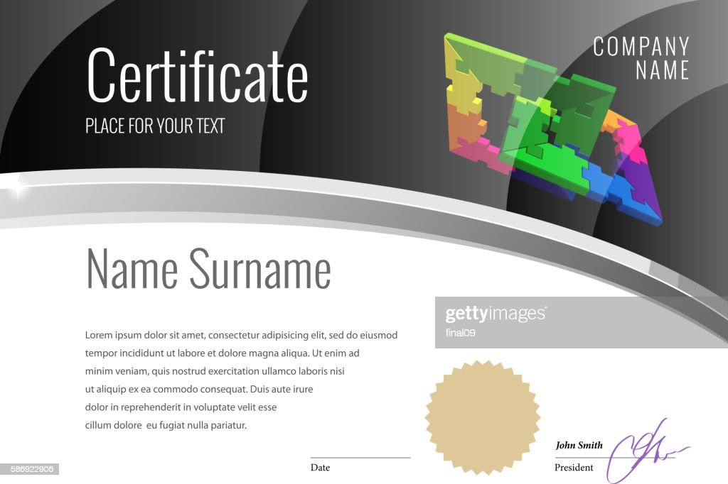 Modern Certificate. Template diplomas, currency.
