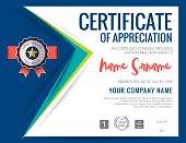 Modern certificate triangle background frame design
