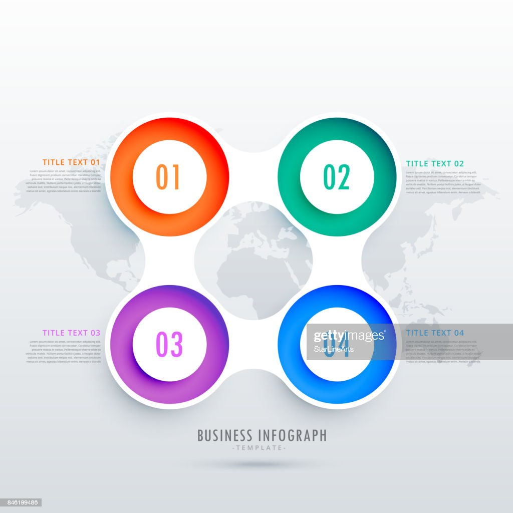modern circular four steps infographic design, can be used in business diagrams presentation or workflow layout