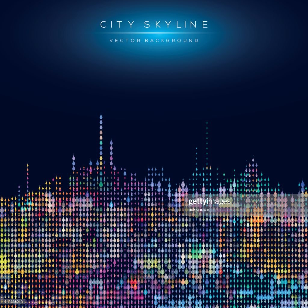 Modern city life abstract background design with geometric shapes.