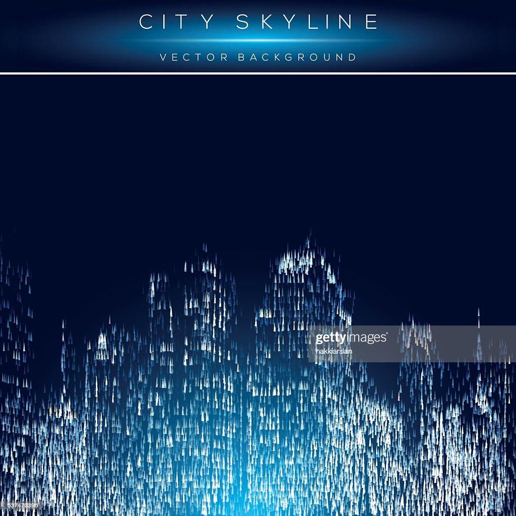 Modern city life abstract illustration