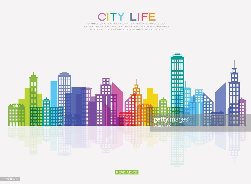 Modern city ponorama