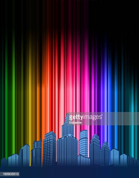 Modern City skyline panoramic on Abstract Light Background