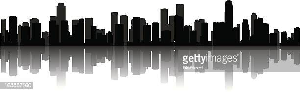 modern cityscape - skyline stock illustrations