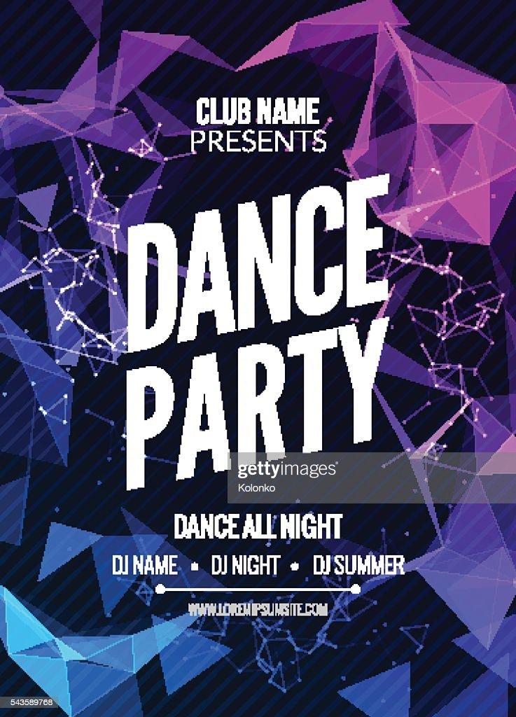Modern Club Music Party Template, Dance  Flyer, brochure. Night   sound