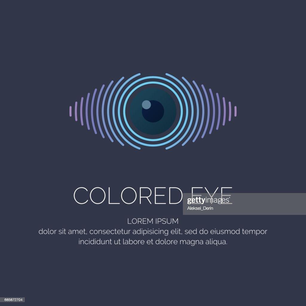 Modern colored emblem eye