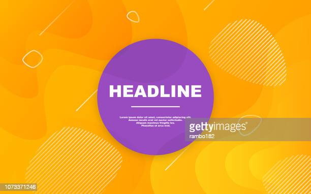 illustrazioni stock, clip art, cartoni animati e icone di tendenza di modern colorful abstract background with gradient. dynamic shapes composition. - arancione
