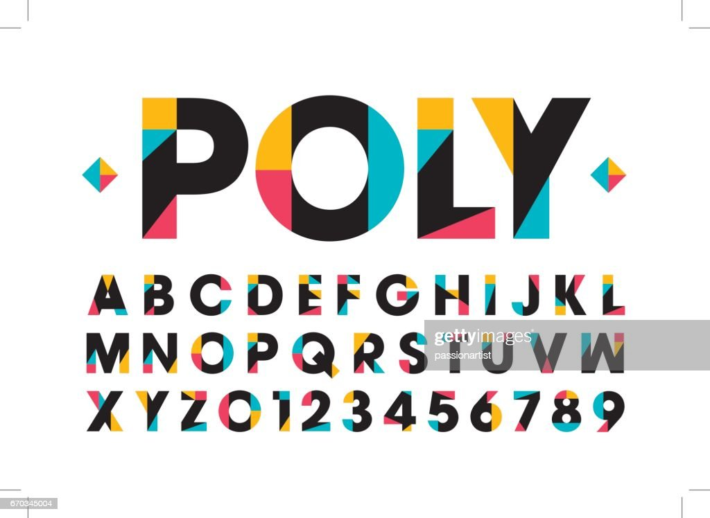 Modern colorful alphabet