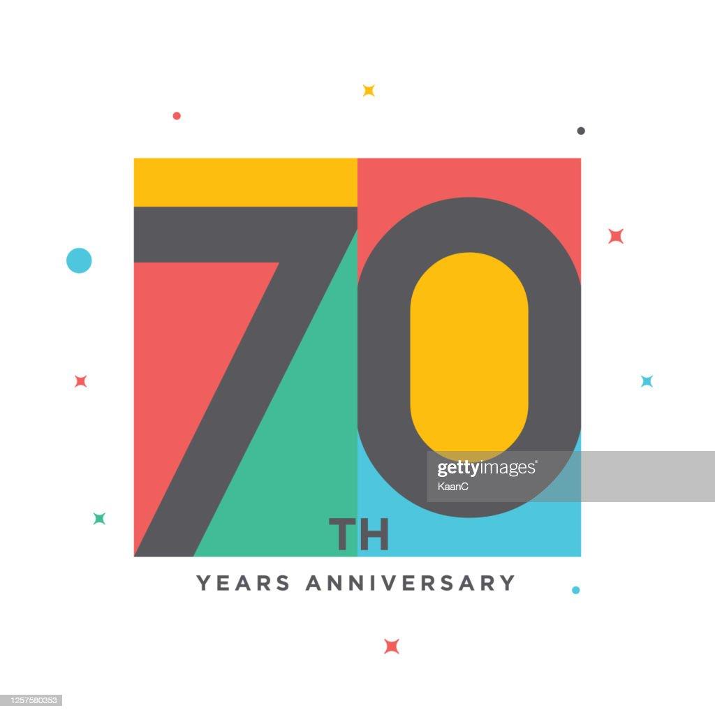 ●モダンカラフルアニバーサリーロゴテンプレート分離、記念アイコンラベル、記念銘柄ストックイラスト : ストックイラストレーション