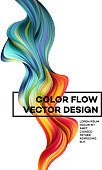 Modern colorful flow poster. Wave Liquid shape in white color background. Art design for your design project. Vector illustration