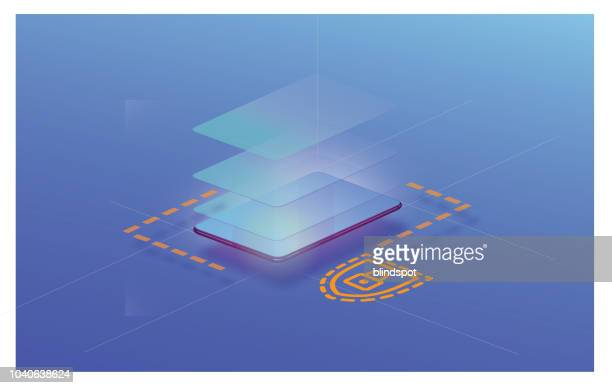 modern communication design - security stock illustrations