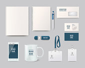 Modern corporate identity template design. Vector illustration