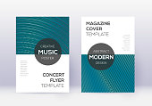 Modern cover design template set. Red abstract lin