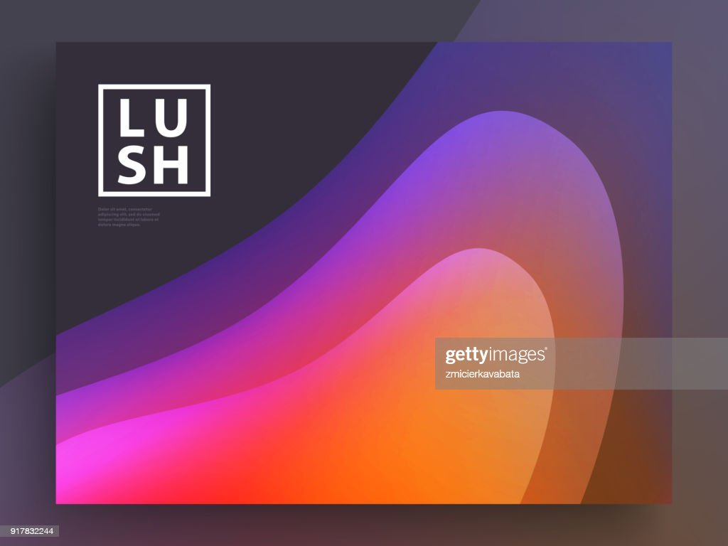 Modern Covers Template Design. Fluid colors. Trendy Holographic Gradient shapes for Presentation, Magazines, Flyers, Annual Reports, Posters and Business Cards