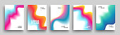 Modern Covers Template Design. Set of Trendy Abstract Gradient shapes for Presentation, Magazines, Flyers, Annual Reports, Posters and Business Cards